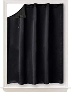 NICETOWN Blackout Curtain Temporary Blinds - Versatile Anywhere Portable Lightweight Drape with Suction Cups for Door(1 Piece,51 inches Wide by 78 inches Long, Black)