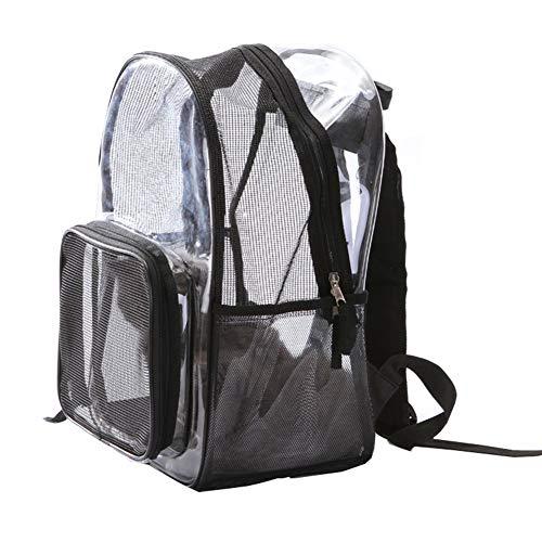 Aida Bz Sac de Chat Transparent Espace Pet Bag Out Portable et Respirant Petit Sac de Chien épaules en Peluche pour Double Usage