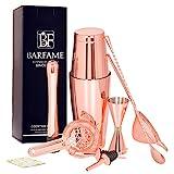 Barfame Cocktail Shaker Set Stainless Steel Bartender Kit: 18oz & 28oz Boston Shaker, Double Jigger,...