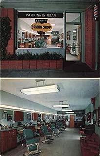 Frank's Barber Shop Arcadia, California Original Vintage Postcard
