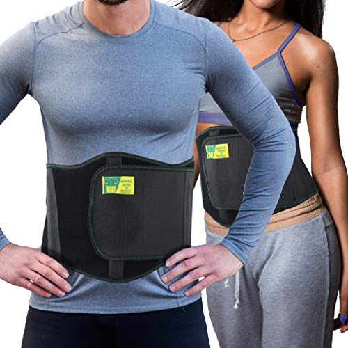Ergonomic Umbilical Hernia Belt – Abdominal Binder for Hernia Support – Umbilical Navel Hernia Strap with Compression Pad – Ventral Hernia Support for Men and Women - Standard (24-44 IN)