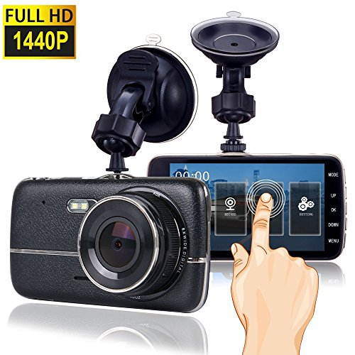 car dash camera with touch screen