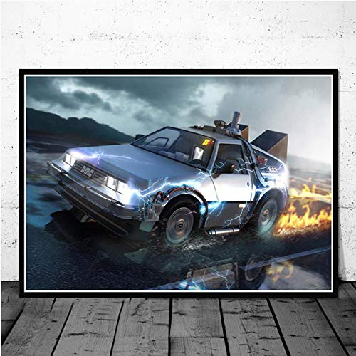 SQSHBBC Movie Classic Cool Car Poster e Stampe Wall Art Canvas Painting Immagini d'Epoca per Soggiorno Home Decor A5 50x70cm Senza Cornice