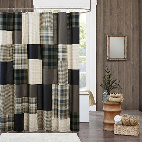 Woolrich Winter Hills 100% Cotton Shower Curtain Tan 72x72