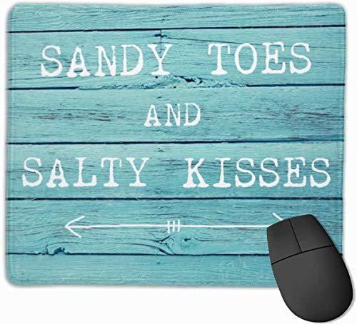 Zandachtige tenen en zoute kussen Gaming Muis Mat Pad Muis Mat Antislip Rubber Base Oppervlak voor Computer PC Toetsenbord en Bureau 9.8
