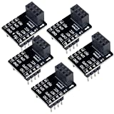 DIYmall ESP8266 ESP-01 Breakout Board ESP-01S Breadboard Adapter PCB Board for Serial WiFi Transceiver Network Module(Pack of 5pcs)