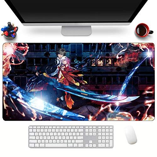 Alfombrillas de ratón Anime Sword Art Online Antideslizante Alfombrilla De Ratón Goma Bordes Cosidos Engrosamiento Alfombrilla De Teclado 900 Mm * 400 Mm * 3 Mm