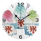 掛け時計 置き時計 壁掛け時計 時計 壁掛け かき氷 連続秒針 リビング おしゃれ 北欧 部屋装飾 部屋飾り プレゼント ギフト 贈り物