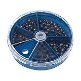 MagiDeal 103Pcs Boîte de Plombs pour Pêche Différent Taille