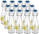 12 Bottiglie Per Limoncello 350 Ml In Vetro Con Tappo A Chiusura Ermetica