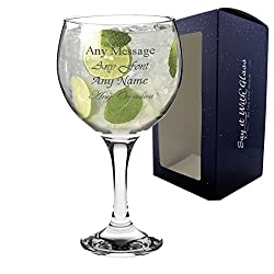 Personalise your glass with anything to fit any occasion! This is an ideal gift for birthdays, weddings, Christmas and retirements, and with various fonts to choose from, you can customise your glass to suit your needs. Please note: The engraving wil...