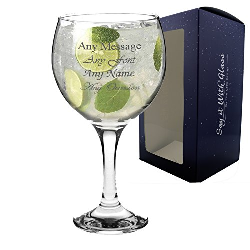 Personalised Engraved Large Gin Balloon Glass