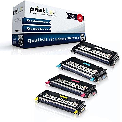 4x Kompatible Tonerkartuschen für Dell 3130 Dell 3130cn 593-10289 593-10290 593-10292 593-10291 Black Cyan Magenta Yellow - Office Pro Serie