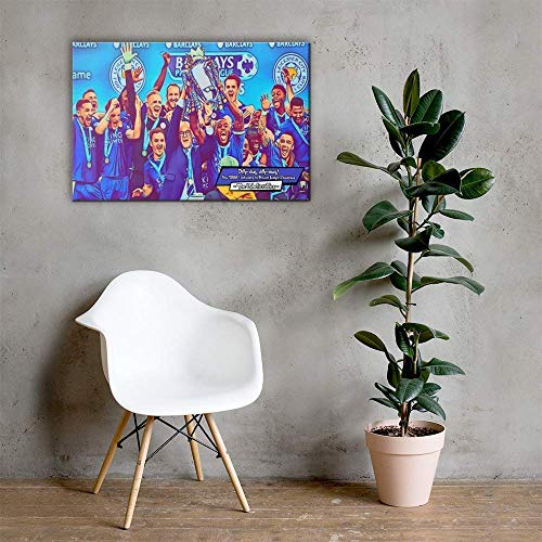 Leicester City FC - The Unbelievables Comic Icons Art Print | 4 Formats - Poster, Canvas, Foamboard, Acrylic | 3 Sizes - Small (12x8 inches), Medium (16x12 inches), Large (24x16 inches)