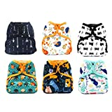 KaWaii Baby Happy Leak-Free One Size Diaper Cover Nature - Pack of 6.