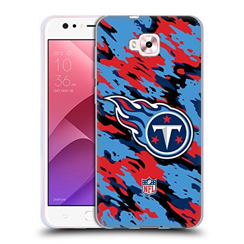 Head Case Designs Oficial NFL Camou Logotipo de Titanes de Tennessee Carcasa de Gel de Silicona Compatible con Zenfone 4 Selfie ZD553KL