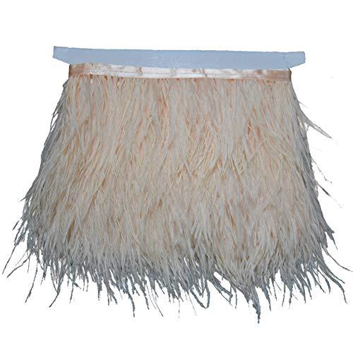 KOLIGHT - Paquete de 9 metros de plumas de avestruz teñidas naturales, de 9 a 12 cm, para decorar vestidos, disfraces o manualidades