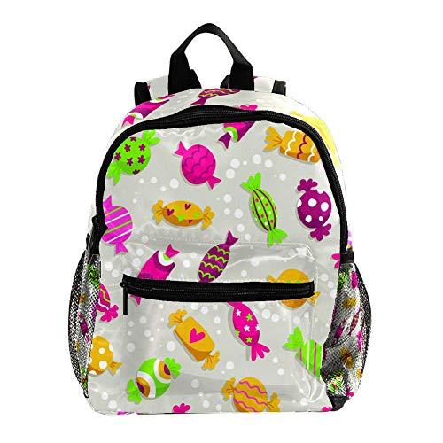 Kleiner Tagesrucksack für den Kindergarten Niedliche Bunte Süßigkeit Teenager Mädchen Schulrucksack ergonomischer Kinderrucksack Jugendliche 25.4x10x30cm