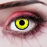 aricona Kontaktlinsen - Lentes de color - Lentes de contacto amarillas - Lentes de contacto sin dioptrías puede utilizarse durante 12 meses, para Halloween y carnaval, 2 piezas