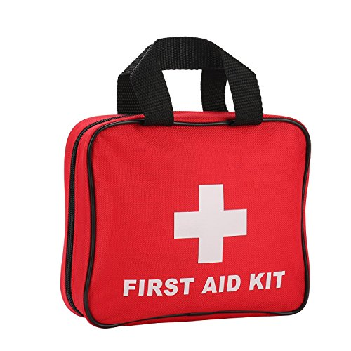 JIEXING First Aid Kit with 105 Pieces Medical Emergency Bag for Home,Survial,Car,Travel,Sports,Outdoor,Hunting.