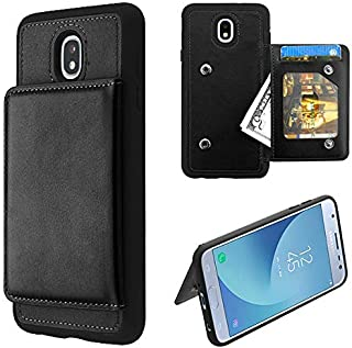 Wydan Case Compatible for Samsung Galaxy J3 V 2018, Star, Achieve, Express Prime 3, Amp Prime 3, Orbit - Shockproof PU Leather Kickstand Credit Card Wallet Phone Cover