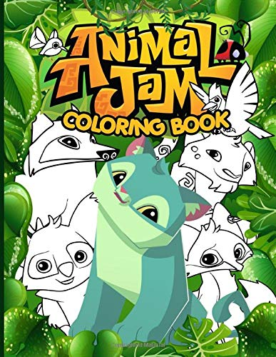 Animal Jam Coloring Book: Featuring Fun And Relaxing Coloring Books For Kids And Adults Perfect Gift Birthday Or Holidays