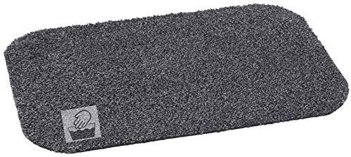 orientbazar24 ZERBINO Home Cottob Eco Antracite 60x 40cm 80% Cotone 20% Microfibra Lavabile a 30Gradi