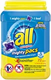 All Mighty Pacs Laundry Detergent Pacs - 50.7 oz - 72 ct - Super,...