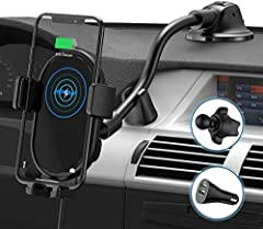 THE FREEDOM OF CHOICE: The suction cup base and air vent clip are included in the package, so the car mount can be alternatively installed on the dashboard or the air vents of the car. Choose the optimal usages according to the car conditions. OPERAT...