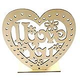 AMOSFUN Luz LED para mesa con forma de corazón y texto 'I Love You' para bodas, decoración de mesa, regalo de boda