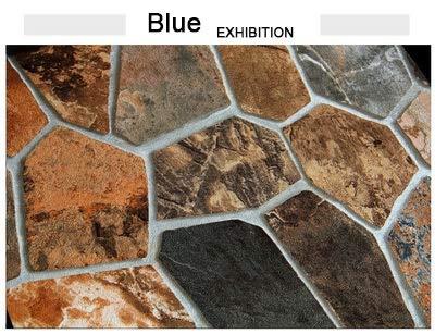 Yubingqin Piedra ladrillo 3D Papel Tapiz Sala de Estar Fondo Pared Impermeable PVC Vinilo Pared Papel Rollo rústico Falso Piedra Papel Tapiz decoración del hogar (Color : Blue, Dimensions : 5.3)