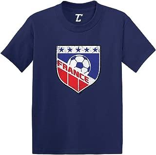 France Soccer - Distressed Badge Infant/Toddler Cotton Jersey T-Shirt