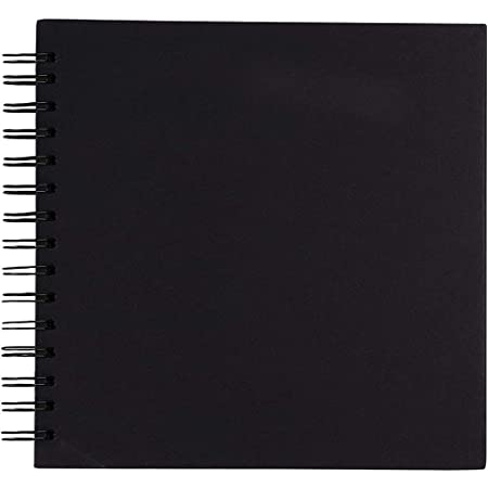 MADE IN UK Spiral 80 pages Black Guest Book Photo Booth Album Scrapbook Wedding