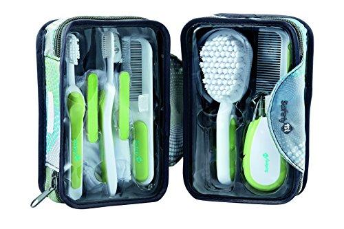 Safety 1st Großes Pflegeset für unterwegs, 8 Pflege- und Hygieneartikel für die Babypflege, inkl. praktischem Reisetäschchen