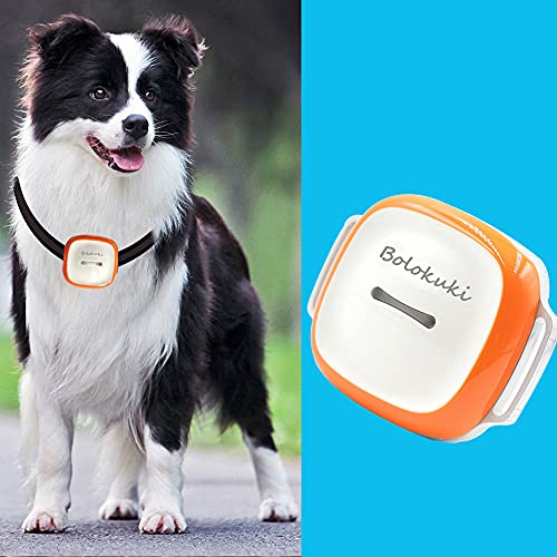Bolokuki Dog Tracker Pet GPS Tracker Tracking Device with Collar Light Search Geo Fence Anti-Lost Waterproof GPS Locator Real Time Alarm Free APP 1450mAh GT011