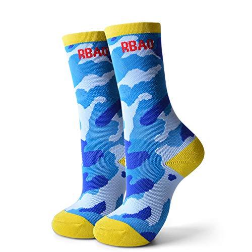 TZTED Kinder Skisocken für Jungen und Mädchen Winter Ski Snowboard Skifahren Socken Hoche Leistungs Thermisch Warm, ideal für aktive Kinder,Blau,S(29~31/4~6old)