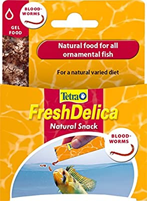 Tetra FreshDelica Bloodworms, Natural Fish Food for All Ornamental Fish, (Pack of 2)