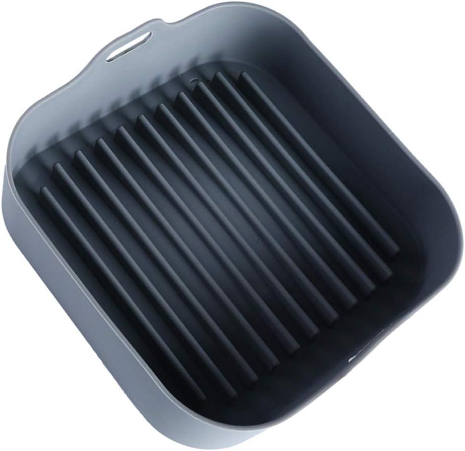 Hemoton Freidora de Aire Olla de Silicona Antiadherente para Hornear Molde Pan Sartenes Plato Enfriador para Pan Casero Pastel Pan Pastel Lasaña Cocina Gadget Grey