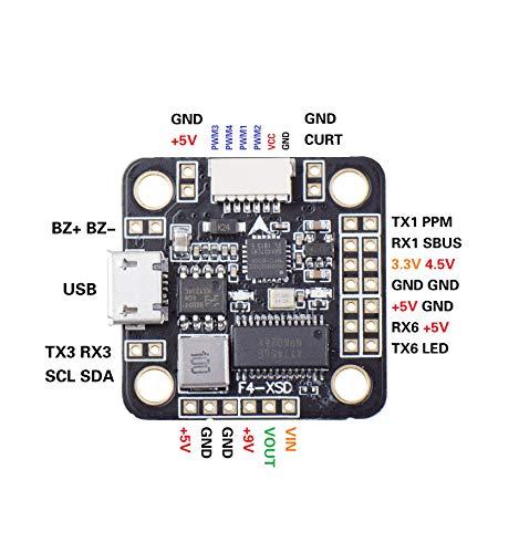Absir Betaflight F4-XSD Tarjeta controladora de Vuelo 2-6S OSD Incorporado 5V 9V BEC para Mini 150130 FPV Racer Drone Soporte SBUS PPM RX