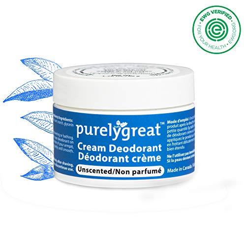 Purelygreat All Natural Deodorant | Aluminum Free Deodorizer | Long Lasting Deodorant Cream | EWG Verified, Vegan, Cruelty-Free, No Aluminum, No Parabens, BPA Free | Essential Oils (Unscented)