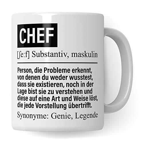 Pagma Druck Tasse Chef, Geschenke für Chefs Definition, Büro Personalchef Becher lustig, Vorgesetzter Boss Kaffeebecher, Teetasse Leiter Firma Geschenkidee Kaffeetasse