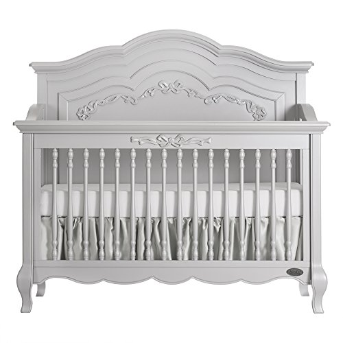 Evolur Aurora 5-in-1 Convertible Crib, Akoya Grey Pearl