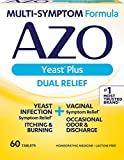 AZO Yeast Plus - Yeast Infection Symptom Relief: Itching & Burning - Vaginal Symptom Relief: Occasional Odor & Discharge - #1 Most Trusted Brand - Homeopathic Medicine - 60 Tablets