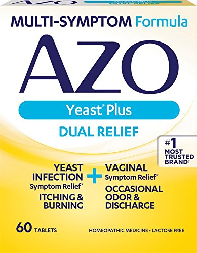 AZO Yeast Plus Dual Relief Homeopathic Medicine | Yeast Infection Symptom...