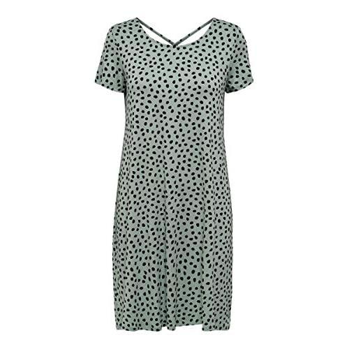 Only Onlbera Back Lace Up S/S Dress Jrs Noos Vestido para Mujer a buen precio