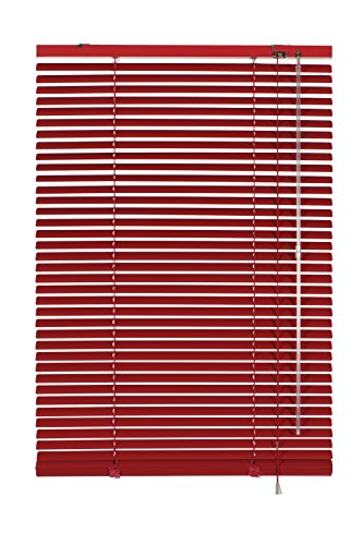 Gardinia 10007321 - Persiana (aluminio, 25 mm, 120 x 175 cm), color rojo