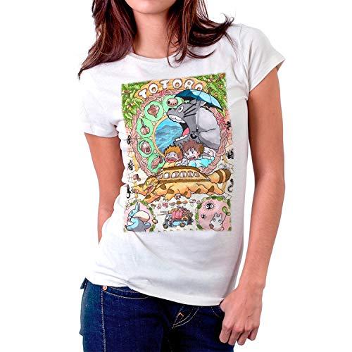 DibuNaif Camiseta Mujer Totoro, Studio Ghibli