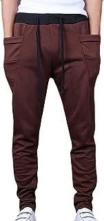 Men's Casual Wear Pants Drawstring Skinny Open Bottom Sweatpant 1 US Medium