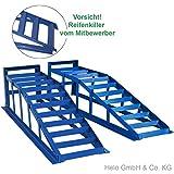 2x Auffahrrampe Rampe PKW bis 245er Räder extra breit blau 2000 kg pro Paar - 4