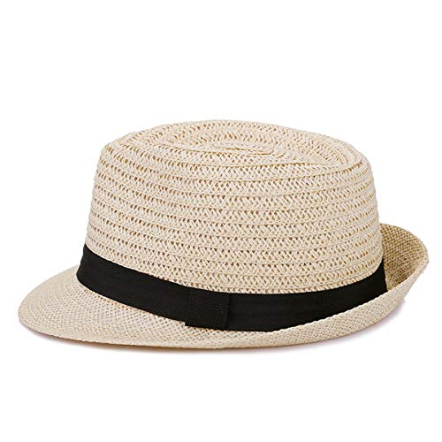 Teansan mannen zomer papier Jazz hoed casual vintage Fedora hoed Britse stijl klassieke Trilby Jazz Caps